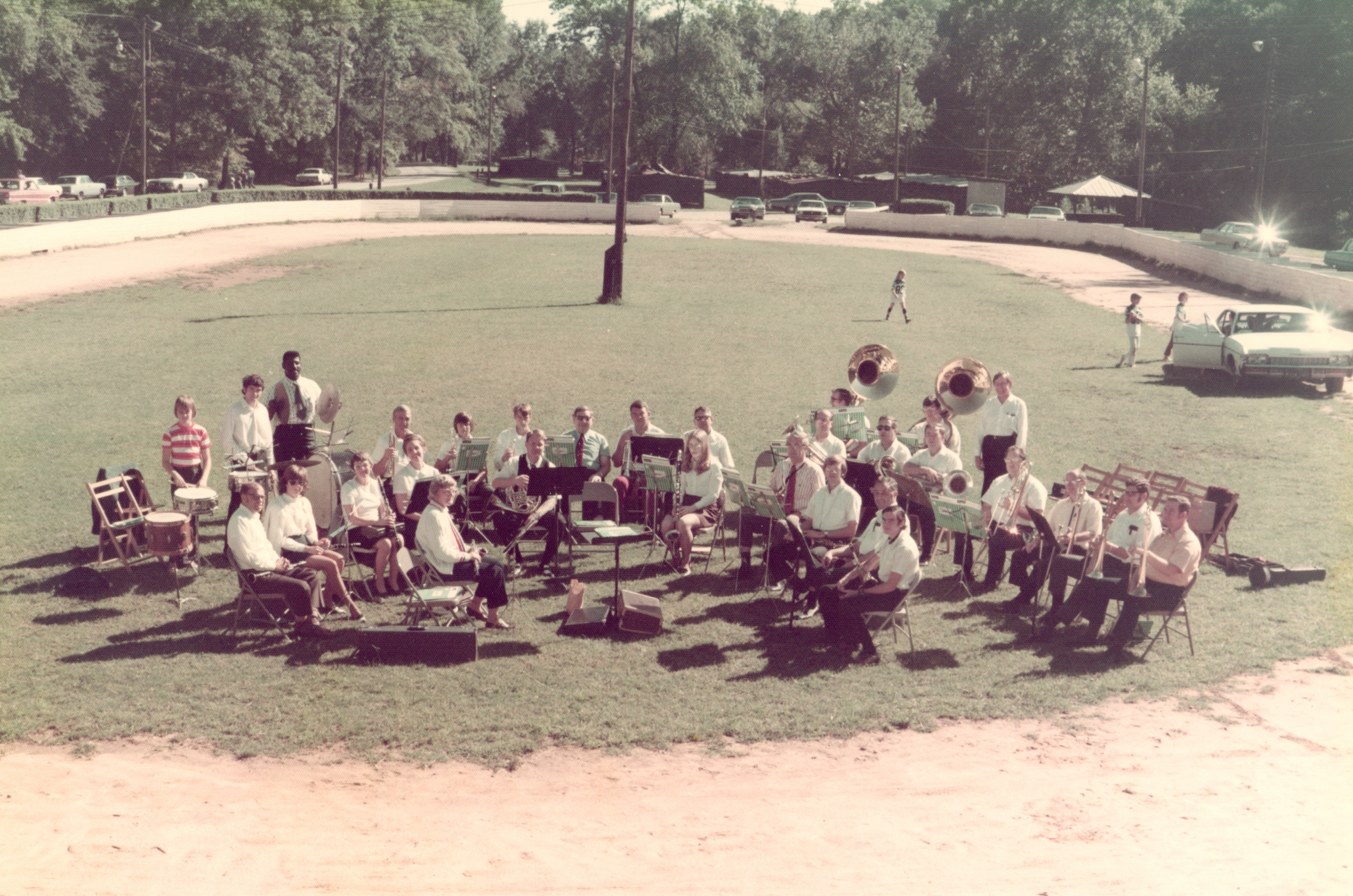 The Greenville Civic Band's first concert. The horse arena, Cleveland Park